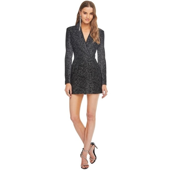 ASTR Into the Night Sparkle Blazer Dress